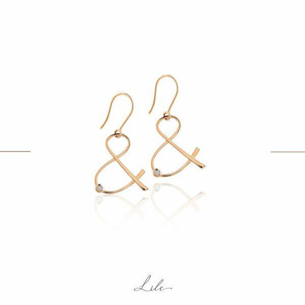 złote kolczyki z diamentami Lile