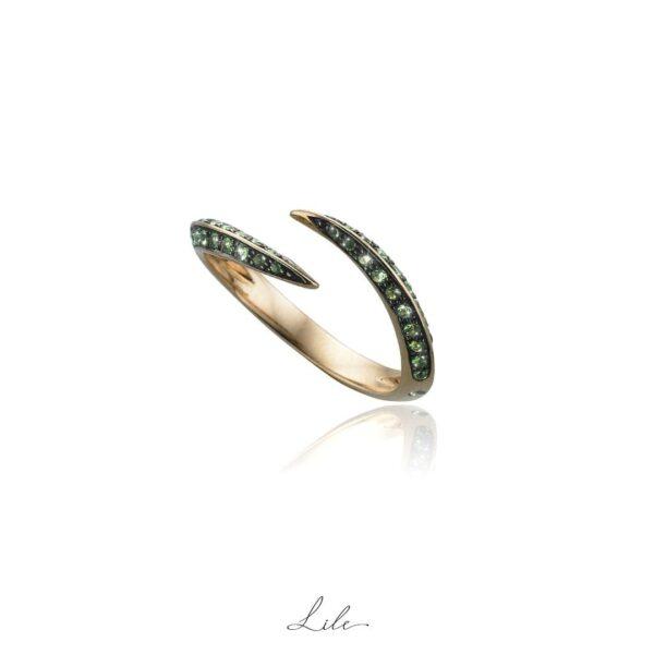 pierścionek z rubinami Lile