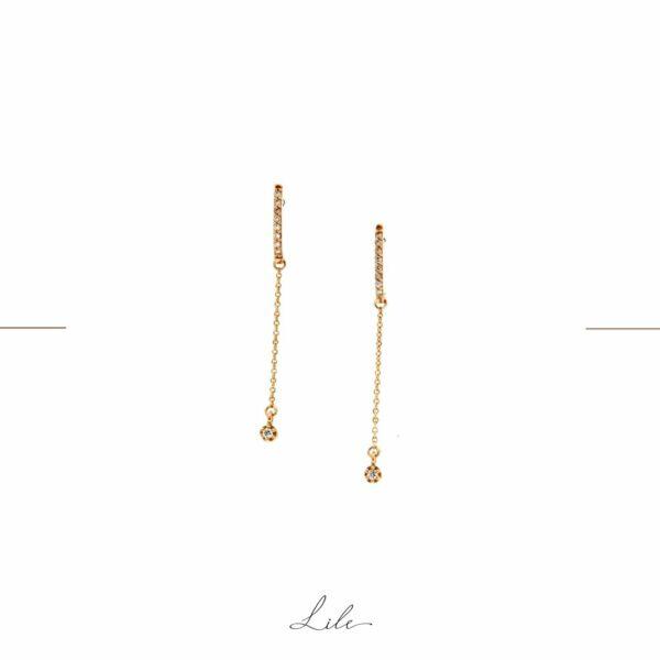 kolczyki długie ślubne Lile