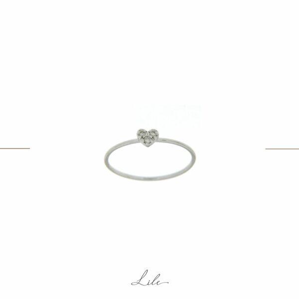 pierścionek serce z brylantami Lile