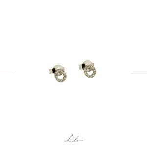 Minimalistyczne kolczyki z diamentami Lile