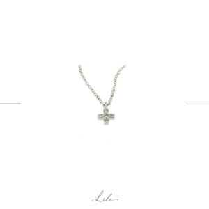 Krzyżyk złoty z diamentami Lile