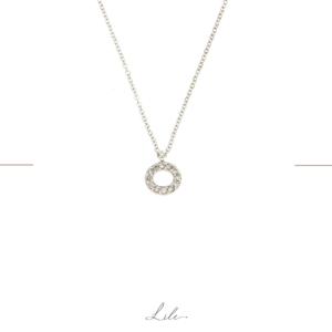naszyjnik z białego złota z diamentami Lile