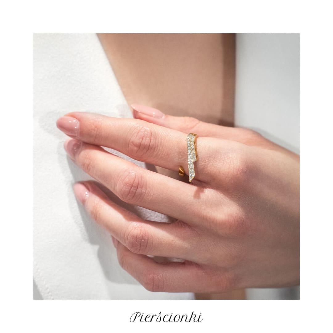 pierścionek złoty Lile