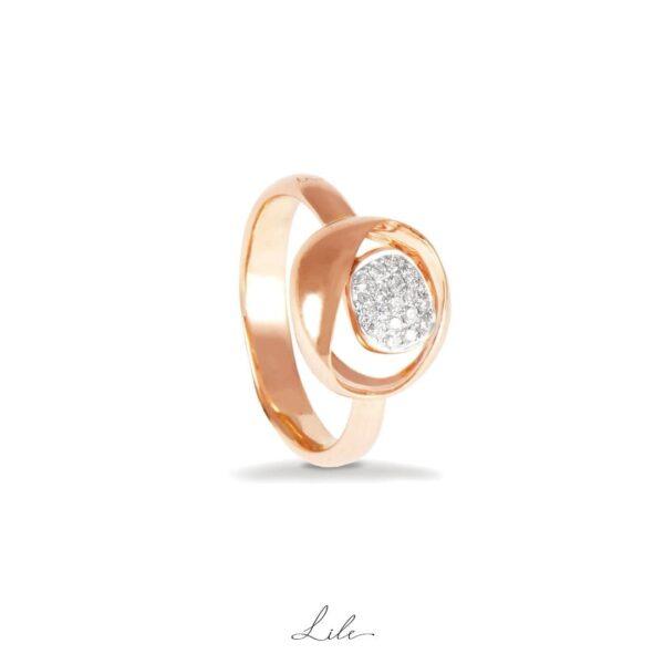 pierścionek z brylantem Lile