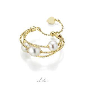 pierścionek z perłami Lile