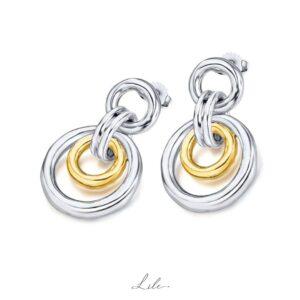srebrne kolczyki N3 Street Fashion Lile