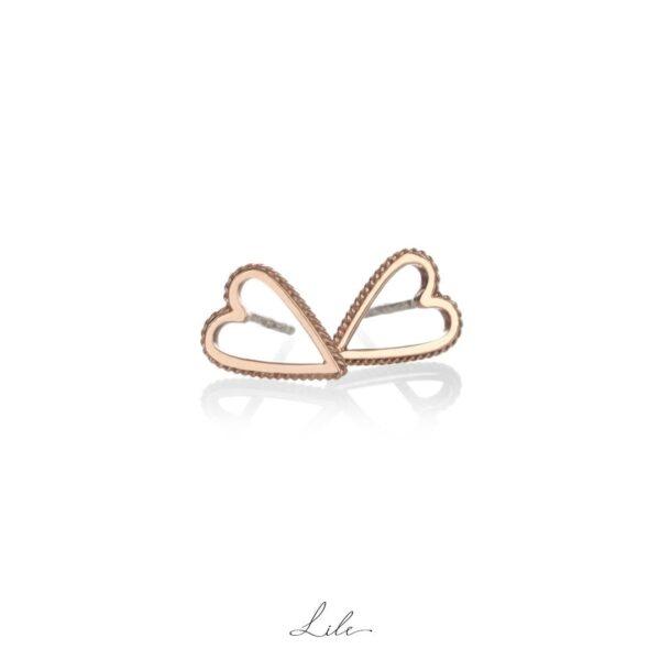kolczyki złoto 333 serduszk Lile Give Love N5
