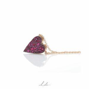 Złoty naszyjnik z rubinami N20 - Give Love